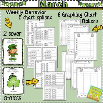 Student Behavior Charts and Graphing Data Tracking- MARCH-FREEBIE