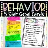 Behavior 5 Star Goal Cards