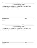 Behavior Accountability Notes