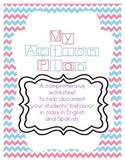 Behavior Action Plan - English and Spanish