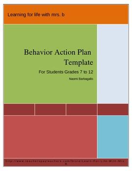 Behavior Action Plan Template