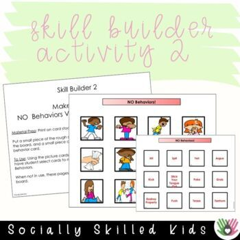 SOCIAL SKILLS: Behavior Support Activities