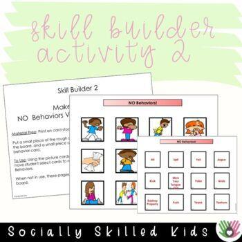 SOCIAL STORY SKILL BUILDER No Behaviors vs. Go Behaviors {For k-2nd}