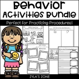 Behavior Activities Pack and Craftivity - Back to School