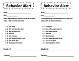 Behavior Alert Form
