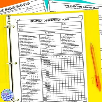 Behavior Analysis Data Sheets & Guides- Print & Ready Go PLUS Editable Version!