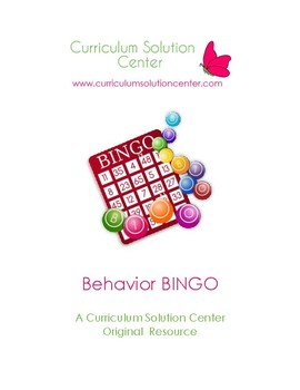 Behavior BINGO (Positive Behavior Support, Classroom Management, Incentive)