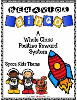 Behavior BINGO - Space Kids Theme