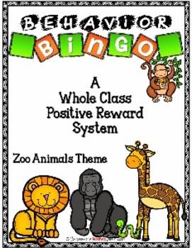 Behavior BINGO - Zoo Animal Theme