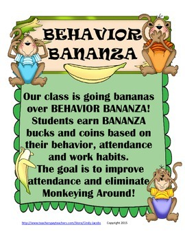 Behavior Bananza, Behavior Chart, Behavior System