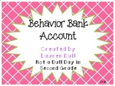Behavior Bank Account: A Behavior Management Program Supplement