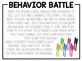 Behavior Battle Classroom Management Game