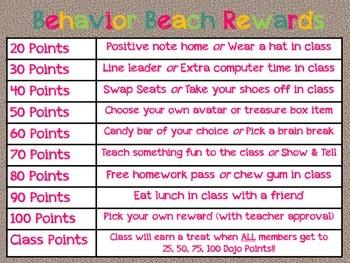 Behavior Beach Rewards *Behavior Management Tool*