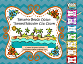 Behavior Beach Ocean Themed Clip Chart, Editable Behavior Log, and Letter!