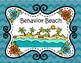 Behavior Beach Ocean Themed Clip Chart, Editable Behavior Log, and Letter!