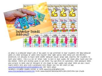 Behavior Beads (Desk Fairy, Big Cheese, Math Monster)