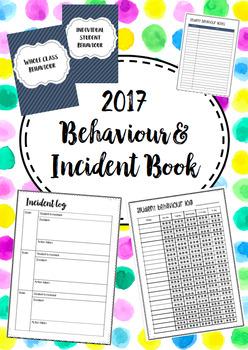 Behavior / Behaviour and Incident Recording Book