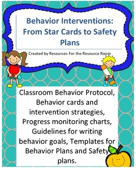 Back to school! Behavior Interventions/Plans, Safety Plans and IEP Goal writing