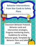 Back to school! Behavior Interventions/Plans, Safety Plans