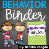 Behavior Binder: ABC Data, Behavior Tracking and  Behavior Management Resources