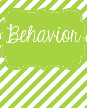 Behavior Binder Cover