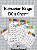 Behavior Bingo 100's Chart (PBIS Class Compliments)