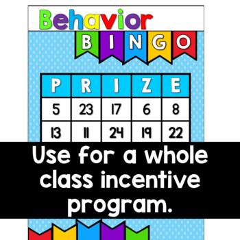 Classroom Management Strategy Behavior Bingo