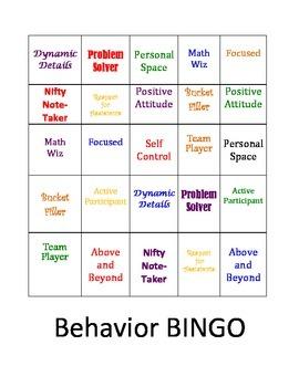 Behavior Bingo