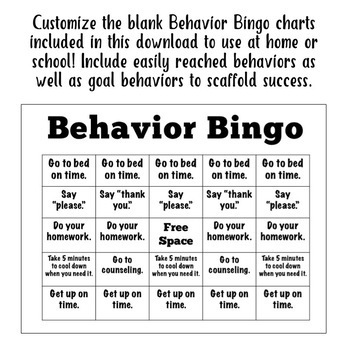 Behavior Bingo: A Behavior Management System for Home or School