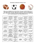 Behavior Bingo Card! Perfect for Elementary or Middle Scho