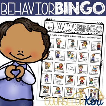 Positive Behavior Activity: Behavior Bingo Game for School Counseling