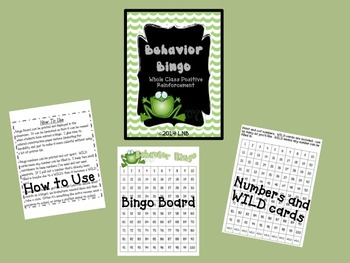 Behavior Bingo [Hopping Frog]