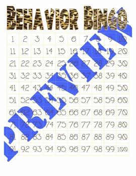 Behavior Bingo - Jungle Theme