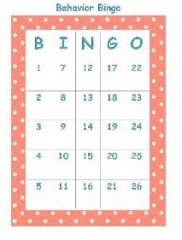 Behavior Bingo Polka Dots
