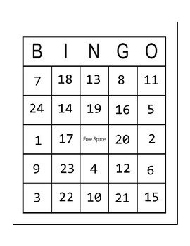 Behavior Bingo in Black and White