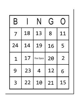 Behavior Bingo in Black and White