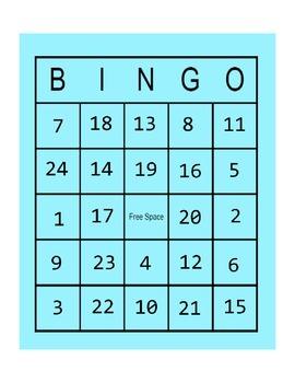 Behavior Bingo in Color
