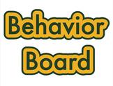 Behavior Board Title Sign