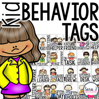 Behavior Brag Tags - Kid Theme