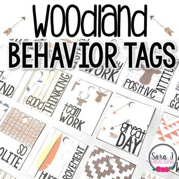 Behavior Brag Tags - Tribal Woodland Theme