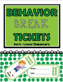 Behavior Break Tickets - Set B (Lower Elementary)