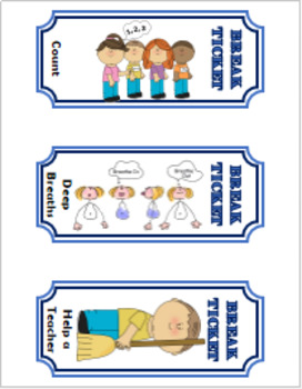 Behavior Break Tickets - Set B (Lower Elementary) {Great for ED/ODD/OHI!}