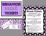 Behavior Break Tickets and Trackers BUNDLE  - Set A (Upper