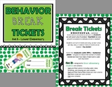 Behavior Break Tickets and Trackers BUNDLE  - Set B (Lower