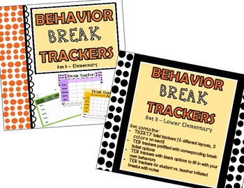 Behavior Break Tickets AND Trackers BUNDLE  - Sets A AND B!!