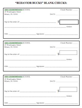 Behavior Bucks Student Rewards/Incentive Program