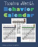 Behavior Calendar - 12 Months