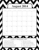 Behavior Calendar 14/15 School Year