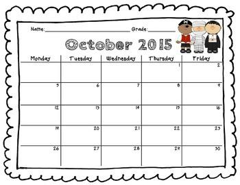 Behavior Calendar!