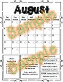 Behavior Calendar 2019-2020 - Elementary
